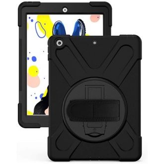 Coque Securit Rotative iPad 10.2 Noir Polybag