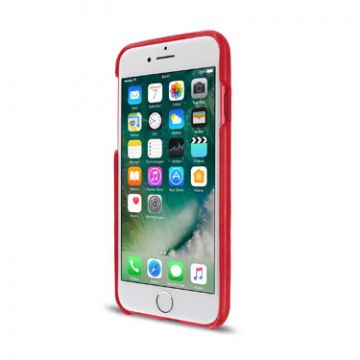 Leather Clip iPhone 7/8 Rouge