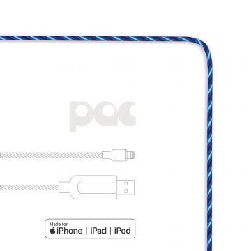 Câble PAC USB vers Lightning lumineux Bleu