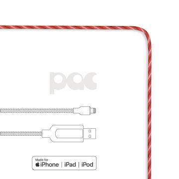 Câble PAC USB vers Lightning lumineux Rouge