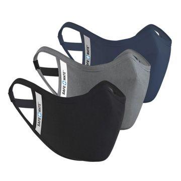 Masques lavables Pack 3 S/M Noir/Gris/Bleu