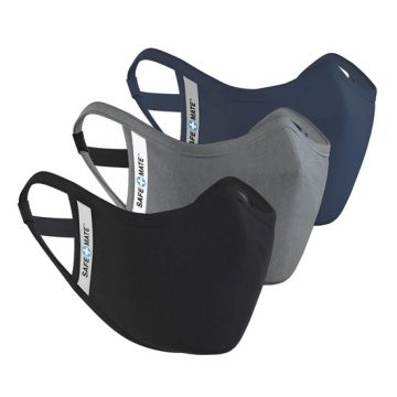 Masques lavables Pack 3 L/XL Noir/Gris/Bleu