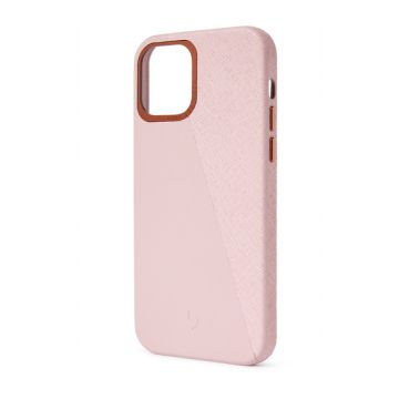 Dual Leather iPhone 12 & iPhone 12 Pro Rose/Rose Doré