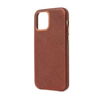 Coque en cuir iPhone 12 Pro Max Marron