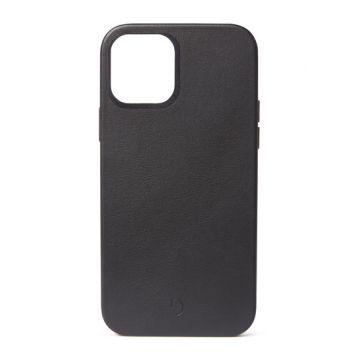 Coque en cuir iPhone 12 Pro Max Noir (MagSafe)