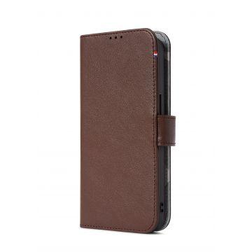 Folio en cuir iPhone 13 Mini Marron