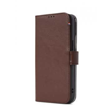 Folio en cuir iPhone 13 Pro Marron