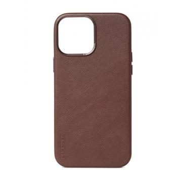 Coque en cuir iPhone 13 Pro Max Marron