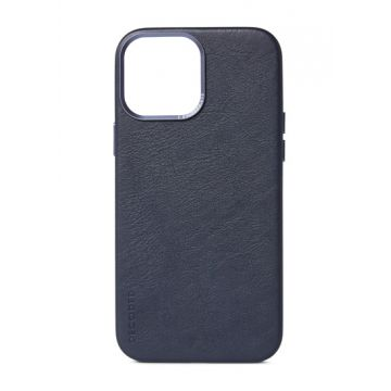 iPhone 13 Pro Max Leather Case Blue