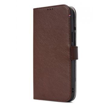 Folio en cuir iPhone 13 Pro Max Marron