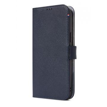 Folio en cuir iPhone 13 Pro Max Bleu