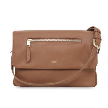"""ELEKTRONISTA Shoulder Bag 10"""" Camel"""