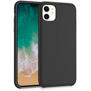 Coque Liquid Silicon iPhone 11 Noir Polybag