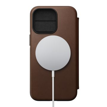 Modern Folio iPhone 13 Pro (MagSafe) Marron