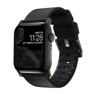 Bracelet Active Pro Apple Watch 42/44mm Noir/Noir