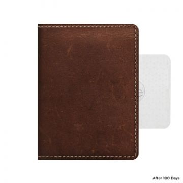 Wallet Leather Rustic Brown Tile