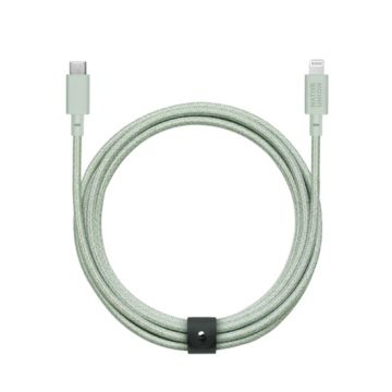 Belt cable XL USB-C to Lightning Green