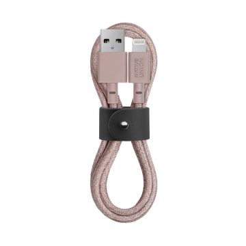 Câble Kevlar® Belt USB vers Lightning (1.2m) Rose