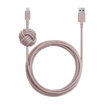 Night Cable USB vers Lightning (3m) Pink
