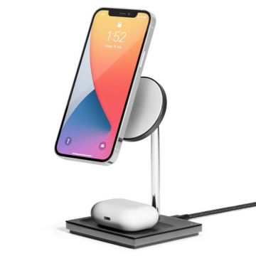 Snap 2-in-1 Magnetic Wireless Charger Black