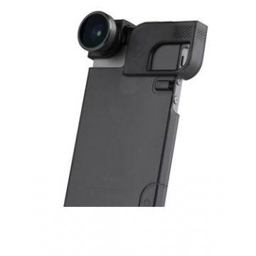 4-IN-1 LENS + QUICK FLIP CASE iPhone 5/5s Grey/Black