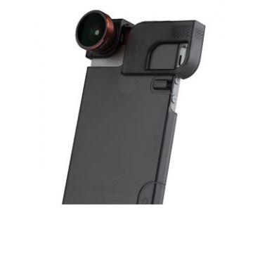 4-IN-1 LENS + QUICK FLIP CASE iPhone 5/5s Red/Black