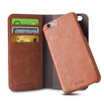 Portfolio détachable iPhone 6 Plus/6S Plus Marron