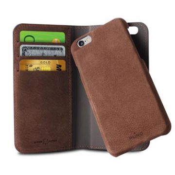 Portfolio détachable iPhone 6 Plus/6S Plus Marron foncé