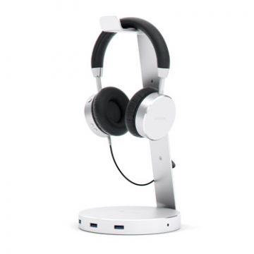 Aluminium USB 3.0 Headphone stand Silver