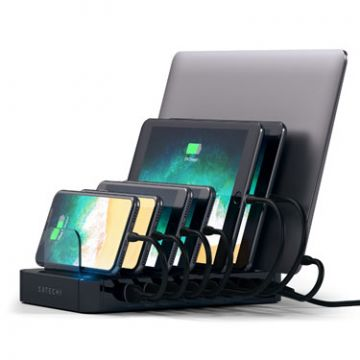 USB Charging station dock Black
