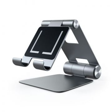 R1 Aluminium hinge holder foldable stand Space Gray