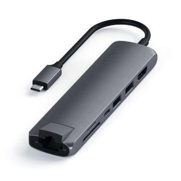 Slim multiport avec Ethernet Gris Sidéral