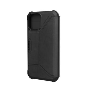 Metropolis iPhone 12 & iPhone 12 Pro Cuir Noir