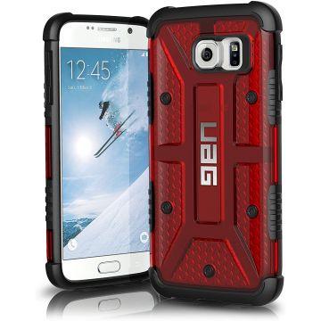 Composite Case + Verre de protection Samsung Galaxy S6 Rouge