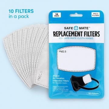 Pack 10 filtres masques lavables
